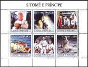 Sao Tome 2003 Space  /  Astronauts  /  Armstrong  /  Aldrin  /  Collins  /  Moon Landing m  /  s n41029