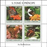 Sao Tome 2004 Butterflies/ Insects/ Nature/ Butterfly/ Wildlife 4v m/s (n12371)