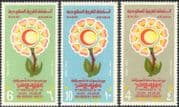 Saudi Arabia 1974 Red Crescent/ Medical/ Health/ Cross/ Welfare/ Nursing/ Flowers/ Animation 3v set (n43550)