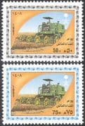 Saudi Arabia 1987 FAO/ FFH/ Tractor/ Food/ Hunger/ Farming/T ransport 2v set (n28904)