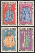 Senegal 1966 Goree Puppets  /  Theatre  /  Drama  /  Plays  /  Entertainment 4v set (n36563)