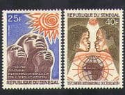 Senegal 1970 Education Year  /  People  /  Sun  /  Map  /  Animation 2v set (n36597)