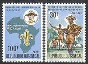 Senegal 1970 Scouts  /  Scouting  /  Rally  /  Baden-Powell  /  Youth  /  Leisure 2v set (n36270)