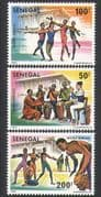 Senegal 1980 Arts Festival  /  Music  /  Dance  /  Ballet  /  Drums  /  Dancing 3v set (n36288)