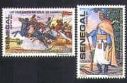 Senegal 1981 Lat Dior  /  National Hero  /  Horses  /  Heroes  /  People  /  Military 2v set n36584