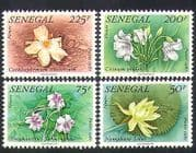 Senegal 1982 Lotus  /  Lily  /  Flowers  /  Plants  /  Nature  /  Medical 4v set (n36576)