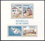 Senegal 1984 Goree  /  Heritage  /  Buildings  /  Slavery  /  Architecture  /  History 4v m  /  s n36286