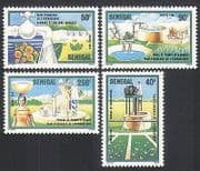 Senegal 1985 Irrigation  /  Water  /  Farming  /  Cattle  /  Crops  /  Tap 4v set (n35896)