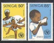 Senegal 1986 UNICEF  /  Children  /  Nurse  /  Immunisation  /  Health  /  Welfare 2v set (n35899)