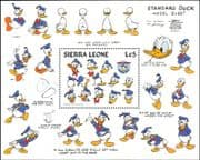 Sierra Leone 1984 Disney/ Donald Duck 50th Anniversary/ Films/ Cartoons/ Animation 1v m/s (ad1063)
