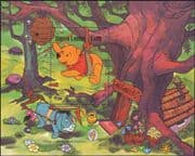 Sierra Leone 1985 Disney/ Winnie the Pooh/ Honey/ Bee/ Cartoons/ Animation 1v m/s (b4478c)