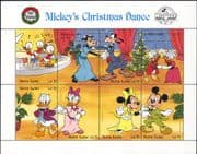 Sierra Leone 1988 Disney/ Christmas/ Mickey/ Dance/ Dancing/ Cartoons/ Animation 8v s-t sht (b437x)