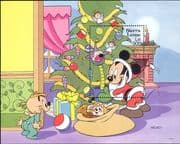 Sierra Leone 1992 Disney/ Mickey/ Toys/ Santa Claus/ Christmas/ Cartoons/ Animation 1v m/s (ad1077)