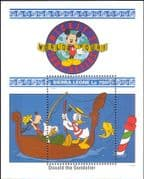 Sierra Leone 1992 Walt Disney/ Mickey/ Donald/ Goofy/ Boat/ Cartoons/ Animation 1v m/s (b1605q)
