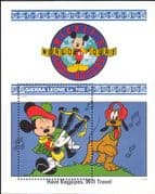 Sierra Leone 1992 Walt Disney/ Mickey/ Goofy/ Music/ Bagpipes/ Cartoons/ Animation 1v m/s (b1605r)
