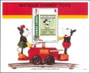 Sierra Leone 1995 Christmas/ Disney/ Mickey/ Book/ Railway Hand Car/ Train/ Cartoons 1v m/s (ad1012)