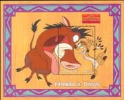 Sierra Leone 1998 Disney/ Lion King/ Timon/ Pumbaa/ Films/ Cinema/ Cartoons  1v m/s (b604a)