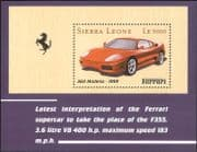 Sierra Leone 1999 Ferrari/ Sports Cars/ Motoring/ Motors/ Transport 1v m/s (s5044e)
