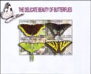 Sierra Leone 2004 Butterflies/ Insects/ Nature/ Conservation/ Butterfly 4v m/s (n26400g)