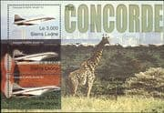 Sierra Leone 2004 Concorde/ Aircraft/ Planes/ Aviation/ Transport/ Giraffe/ Nature   3v m/s (n11211)