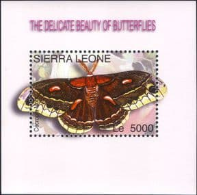 Sierra Leone 2004 Moths/ Butterflies/ Insects/ Nature/ Conservation/ Moth 1v m/s (n26400h)