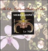 Sierra Leone 2004  ORCHIDS/ Flowers/ Plants/ Nature/ Orchid 1v m/s (n13288b)