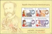 Sierra Leone 2010  Henri Dunant/ Red Cross/ Medical/ Health/ Welfare/ People 4v m/s (n46261)