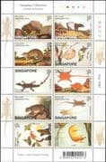 Singapore 2002 Porcupine/Lizard/Deer/Tapir/Loris/Mouse/Animals/Wildlife 10v sht (b6487)