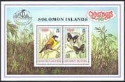 Solomon Is 1997 Christmas  /  Bird  /  Butterflies  /  StampEx  /  Nature  /  Insects 2v m  /  s (b3095)