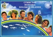 Solomon Islands/ Solomons 2000 CYMM/Commonwealth Youth Ministers Meeting/People 1v m/s (s660a)
