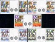 Solomons 1985 Girl Guides/ Youth Year/ Medical/ Health/ Sport 5v set gttr prs (n40088a)