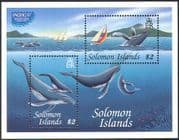 Solomons 1997 Whales/ Marine/ Pacific '97 StampEx/ Boats/ Nature/ Conservation 2v m/s (b2779)