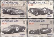 Solomons 1999 Enzo Ferrari/ Racing Cars/ GP/ F1/ Grand Prix/ Transport/ People  4v set (n40088e)