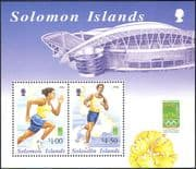 Solomons 2000 Olympics/ Sports/ Olympic Games/ Running/ Athletes/ StampEx 2v m/s (n14484)