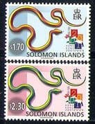 Solomons 2001 Snakes  /  Reptiles  /  Nature  /  StampEx 2v n31059