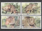 Solomons 2002 WWF  /  Cuscus  /  Wildlife  /  Animals 4v set  b6046