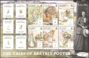 Solomons 2006 Beatrix Potter/ Owl/ Hedgehog/ Rabbit/ Books/ Writers/ Literature/ People/ Animals/ Nature 6v m/s (n16938)