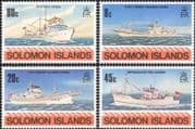 Solomons - Solomon Islands 1980 Fishing Industry/ Commerce/ Ships/ Boats/ Nautical/ Transport 4v set (n45168)