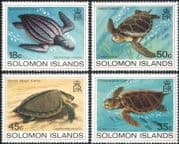 Solomons - Solomon Islands 1983 Turtles/ Marine/ Wildlife/ Animals/ Nature/ Conservation/ Environment 4v set (n45164)