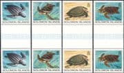Solomons - Solomon Islands 1983 Turtles/ Marine/ Wildlife/ Animals/ Nature/ Environment/ Conservation 4v set gutter prs (n45164)