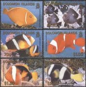 Solomons/Solomon Islands 2001 Clownfish/ Anemonefish/ Reef Fish/ Marine Wildlife/ Sea life/ Nature 6v set (b6481)