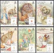 Solomons/ Solomon Islands 2006 Beatrix Potter/ Owl/ Hedgehog/ Rabbit/ Books/ People/ Writers/ Animals/ Birds/ Nature 6v set (n16939)