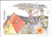Somalia 2003  Girl Scouts/ Scouting/ Camping/ Camp Fire/ Youth/ People  1v m/s  (b5844c)