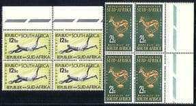 South Africa 1964 Sports  /  Rugby  /  Animals 2v blk (n29581)