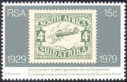South Africa 1979 Plane/ Aircraft/ Aviation/ Stamp on Stamp/ S-on-S 1v (n19269)