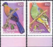 South Africa 2000 (2001)  Birds/ Pigeon/ Lourie/ Turaco/ Nature/ Wildlife  2v set (n20545)