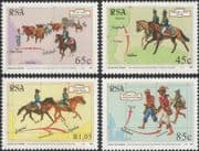 South Africa / RSA 1993 Horses/ Oxen/ Post/ Mail/ Military/ Animals/ Nature/ Cattle 4v set (n26036)