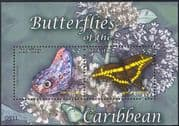 St Kitts 2009 Butterflies/ Nature/ Insects/ Butterfly 2v m/s (n43916)