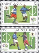 St Lucia 2006 Football World Cup Championships/ WC/ Soccer/ Sports/ Games  2v set (b2060r)