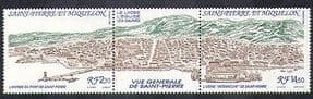 St Pierre & Miquelon 1990 Harbour  /  Ships  /  Trawlers  /  Factory  /  Transport 2v stp n3821